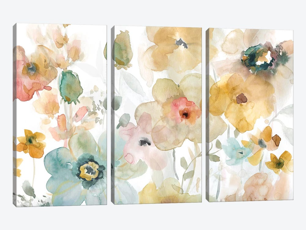 Soft Spring I by Carol Robinson 3-piece Canvas Artwork