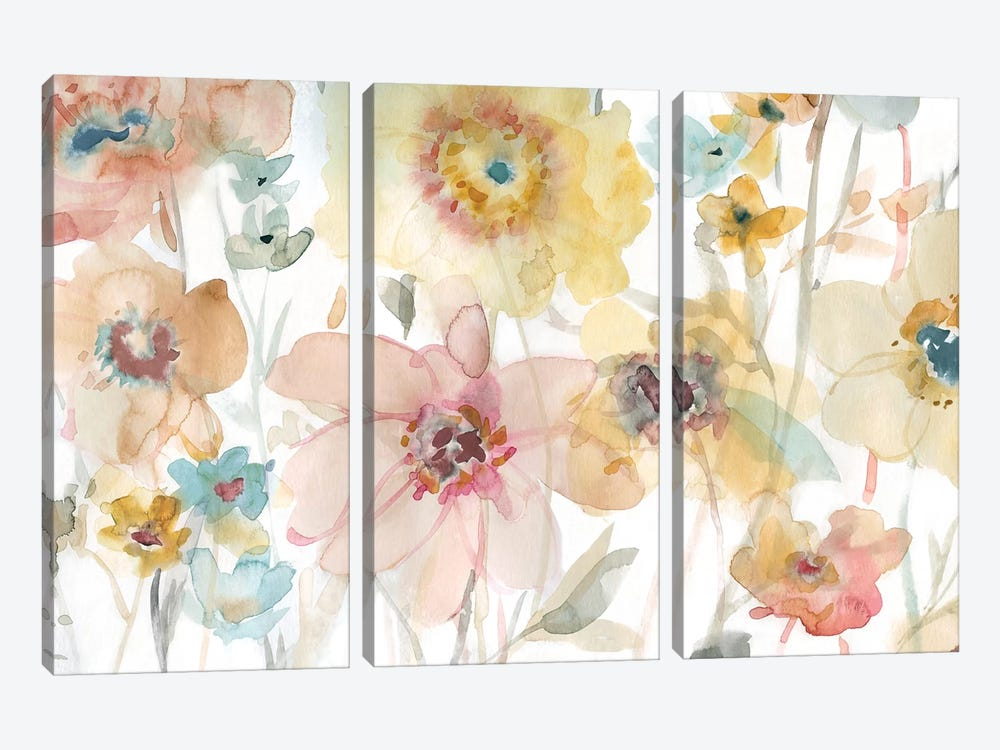 Soft Spring II by Carol Robinson 3-piece Canvas Print