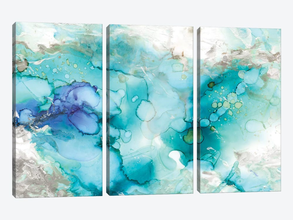 Teal Marble by Carol Robinson 3-piece Canvas Print