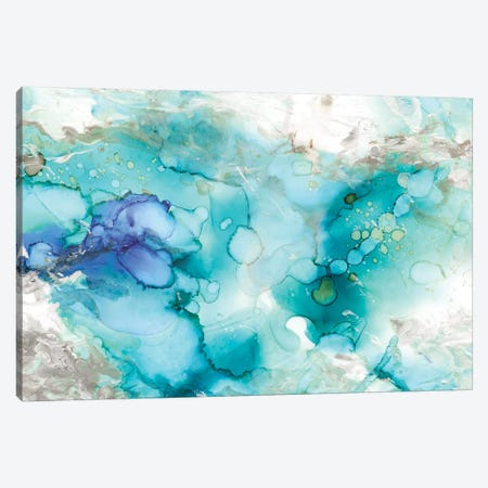 Teal Marble Canvas Print #CRO189} by Carol Robinson Canvas Wall Art