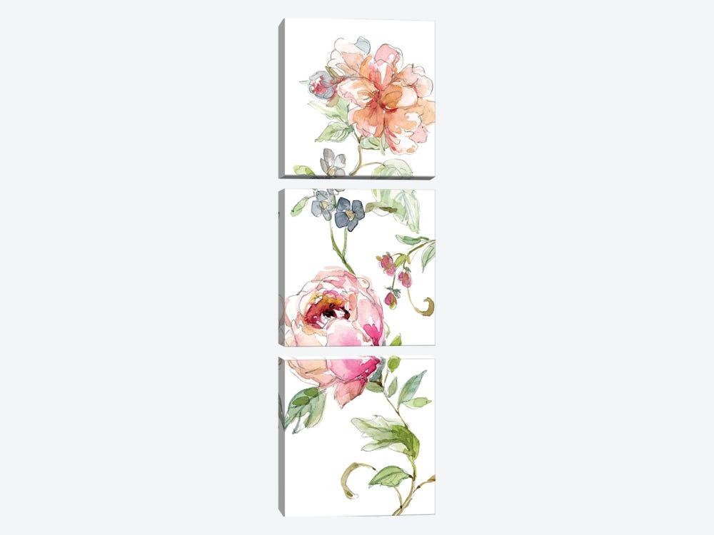Trailing Blooms I by Carol Robinson 3-piece Canvas Print
