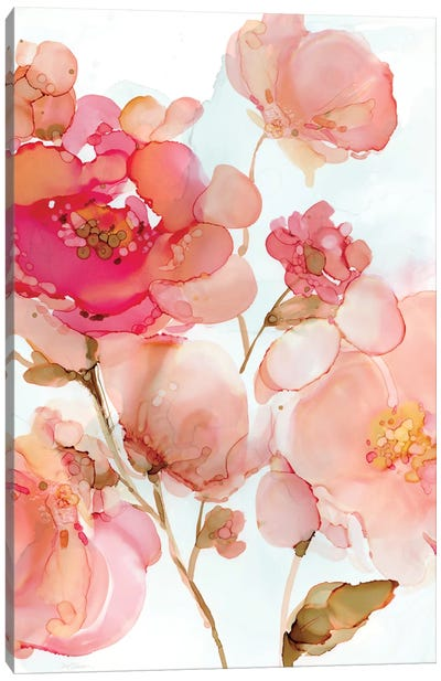 Vivid Peonies Canvas Art Print