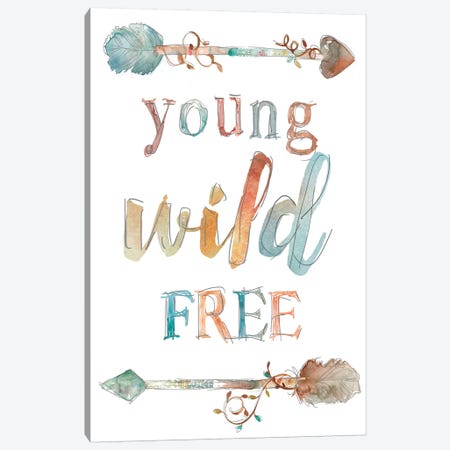 Young Wild Free Canvas Print #CRO197} by Carol Robinson Canvas Art