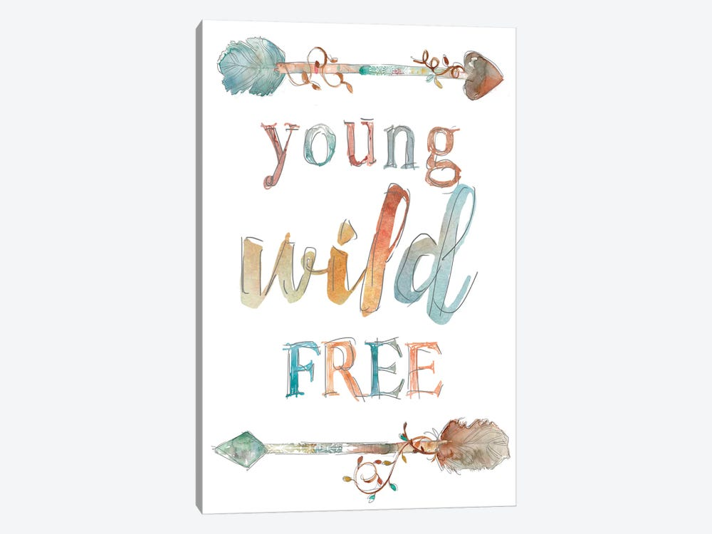 Young Wild Free by Carol Robinson 1-piece Canvas Wall Art