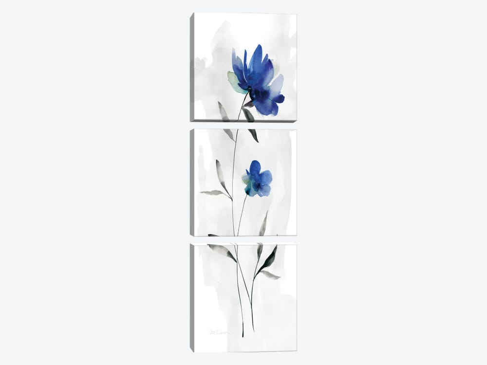 Beautiful Blue I 3-piece Canvas Print