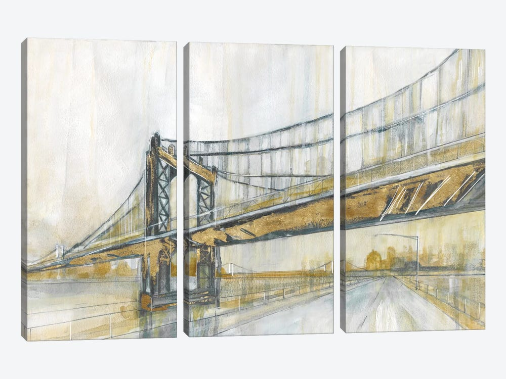 Brooklyn Rain by Carol Robinson 3-piece Canvas Artwork