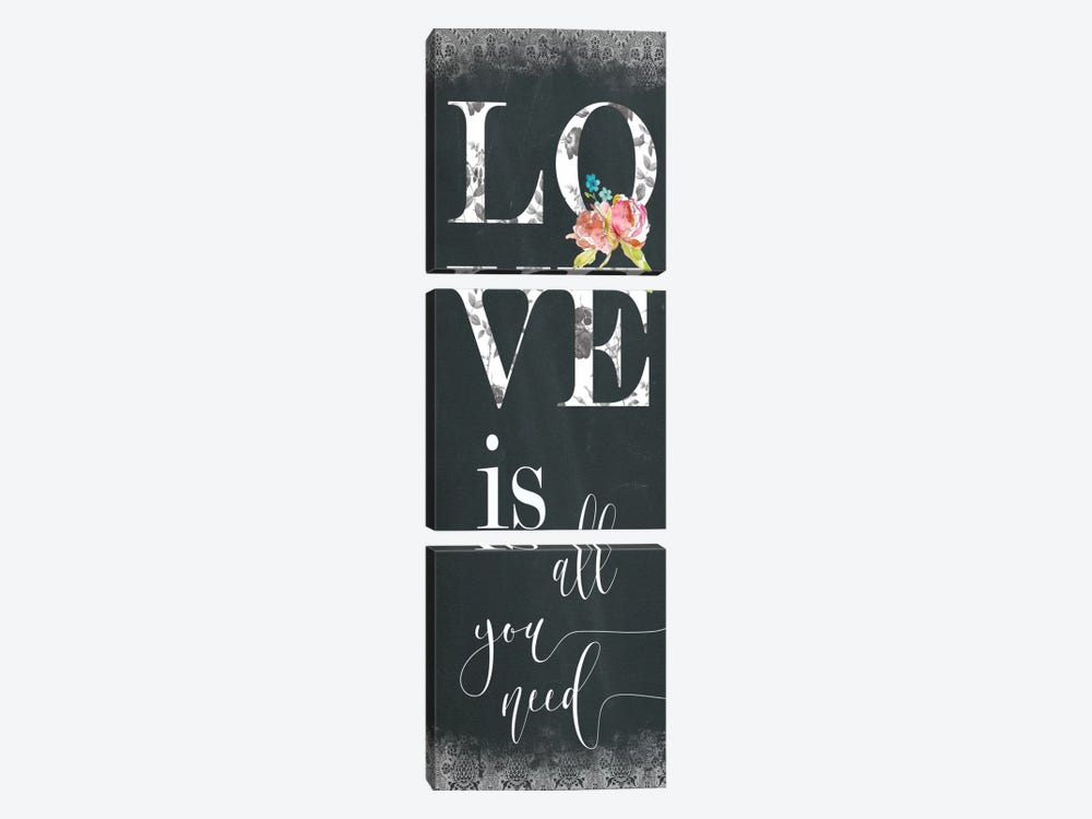 Chalky Love by Carol Robinson 3-piece Canvas Wall Art