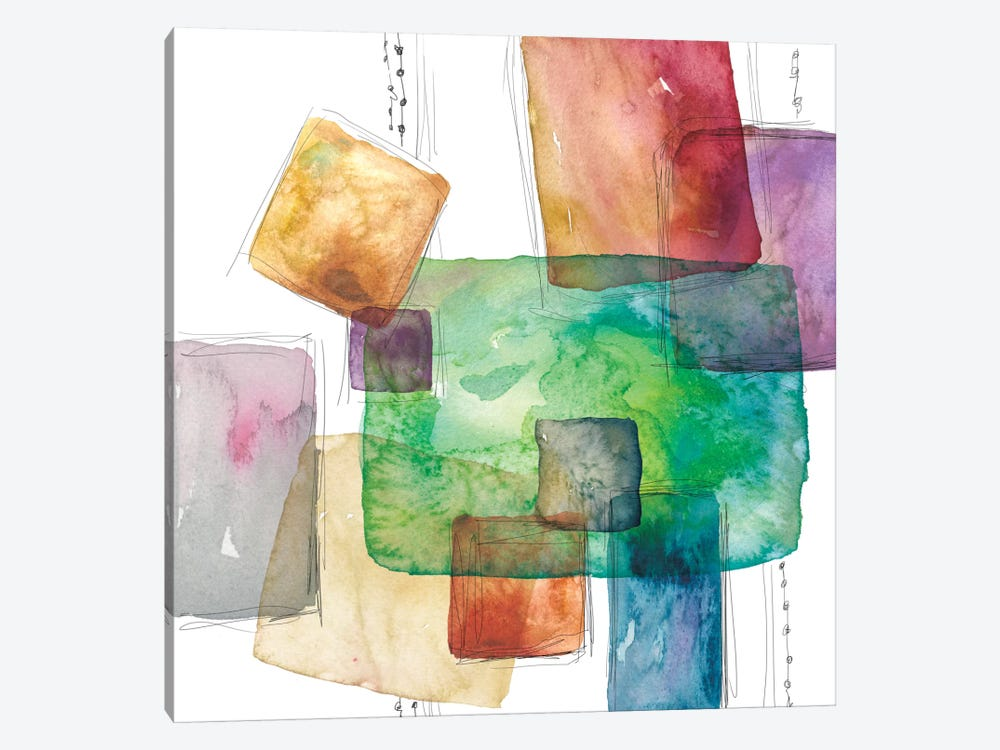 Color Blocks by Carol Robinson 1-piece Canvas Print
