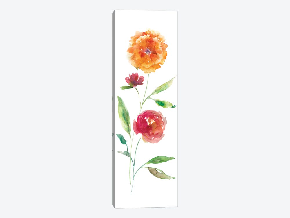 Color Wash Botanical II 1-piece Canvas Wall Art