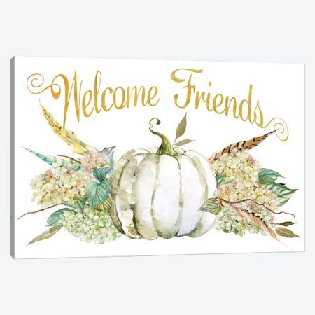 End Of Summer: Welcome Friends Canvas Print #CRO238} by Carol Robinson Canvas Wall Art