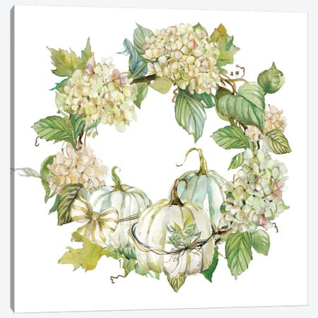 End Of Summer: Wreath Canvas Print #CRO239} by Carol Robinson Canvas Wall Art