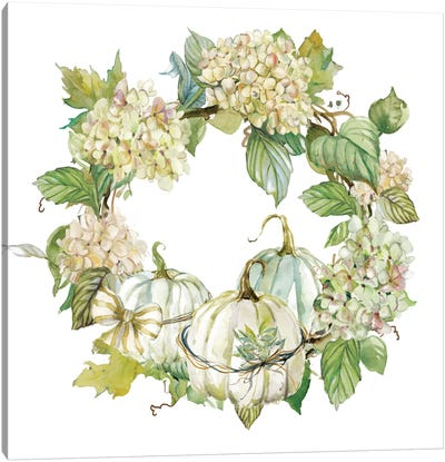 End Of Summer: Wreath Canvas Art Print