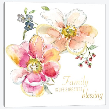 Family Blessing Canvas Print #CRO241} by Carol Robinson Art Print