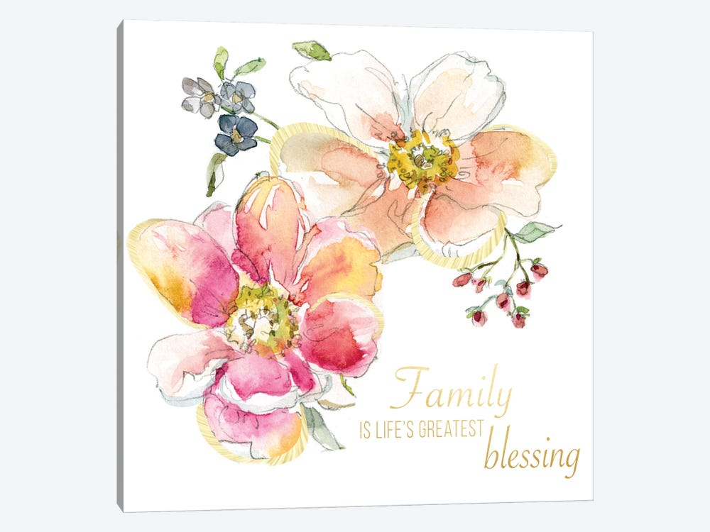 Family Blessing by Carol Robinson 1-piece Art Print
