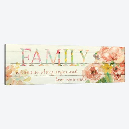 Family Where Our Story Begins Canvas Print #CRO244} by Carol Robinson Canvas Art