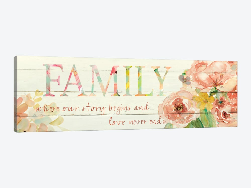 Family Where Our Story Begins by Carol Robinson 1-piece Canvas Artwork