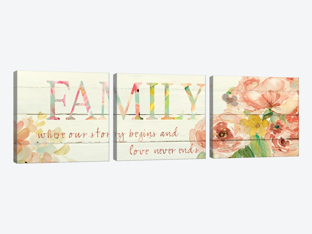Family Where Our Story Begins by Carol Robinson 3-piece Canvas Artwork