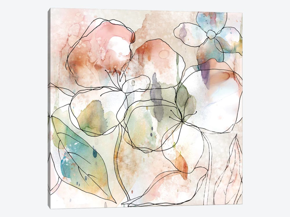 Floral Flow I by Carol Robinson 1-piece Canvas Artwork