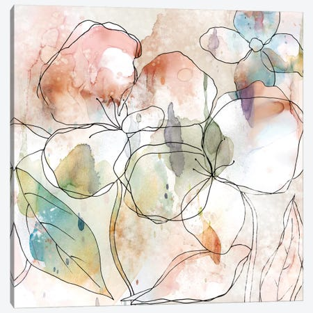 Floral Flow I Canvas Print #CRO248} by Carol Robinson Art Print