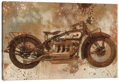 Live To Ride V Canvas Art Print