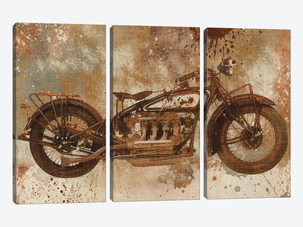 Live To Ride V by Carol Robinson 3-piece Art Print