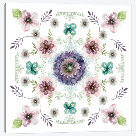 Floral Kaleidoscope I Canvas Print #CRO250} by Carol Robinson Canvas Wall Art