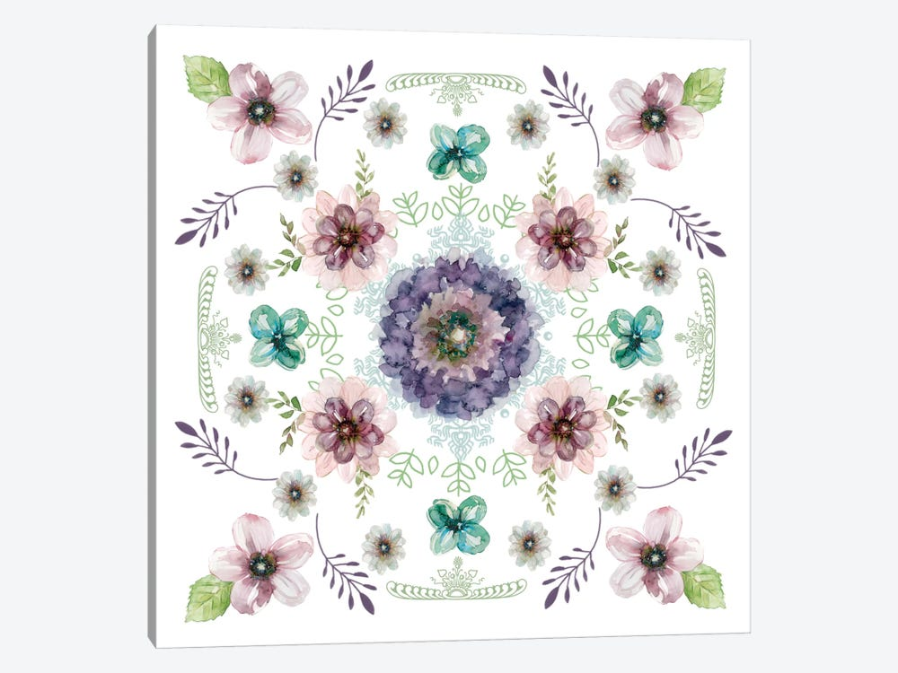 Floral Kaleidoscope I by Carol Robinson 1-piece Canvas Print