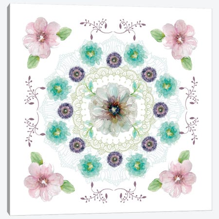Floral Kaleidoscope II Canvas Print #CRO251} by Carol Robinson Canvas Wall Art