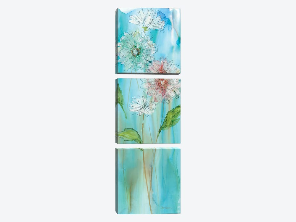 Garden Flow I by Carol Robinson 3-piece Canvas Art Print