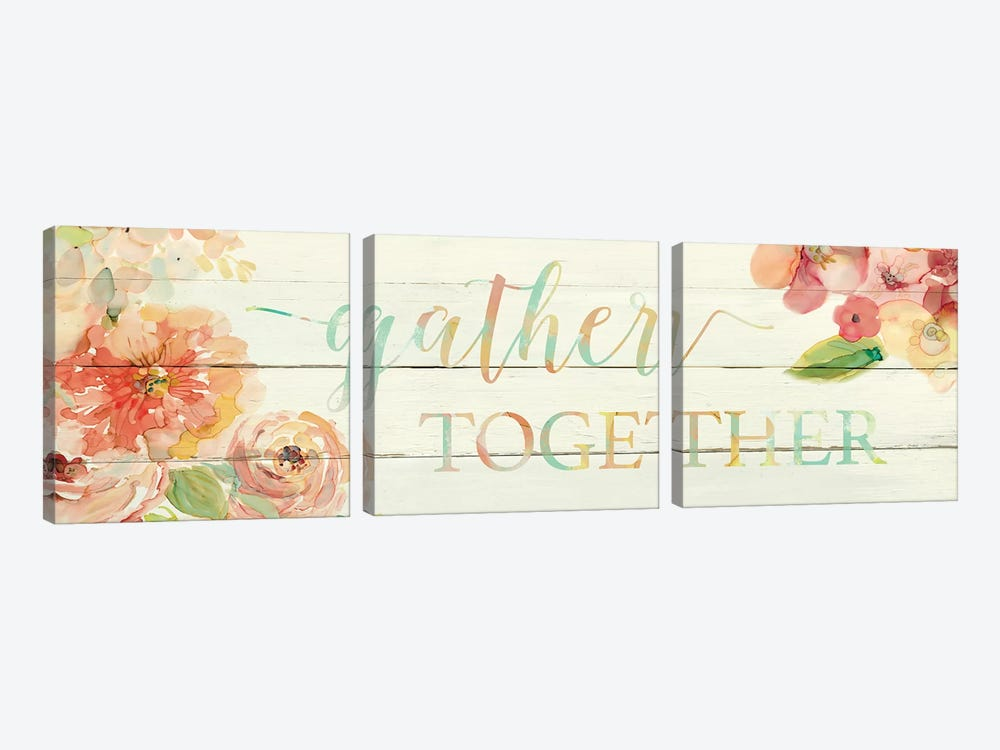 Gather Together by Carol Robinson 3-piece Canvas Wall Art