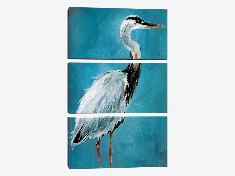 Great Blue Heron I 3-piece Canvas Artwork