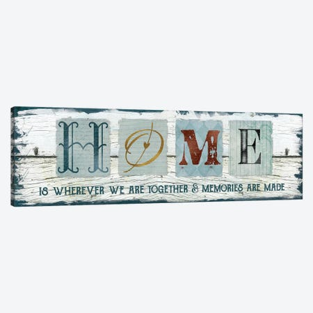 Home Wherever We Are Together 3-Piece Canvas #CRO267} by Carol Robinson Canvas Artwork
