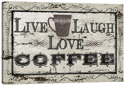 Live, Laugh, Love, Coffee Canvas Art Print