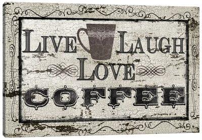Live, Laugh, Love, Coffee Canvas Art Print