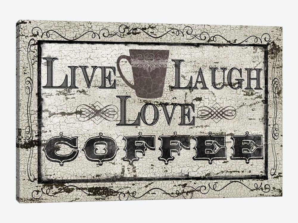 Live, Laugh, Love, Coffee by Carol Robinson 1-piece Canvas Artwork