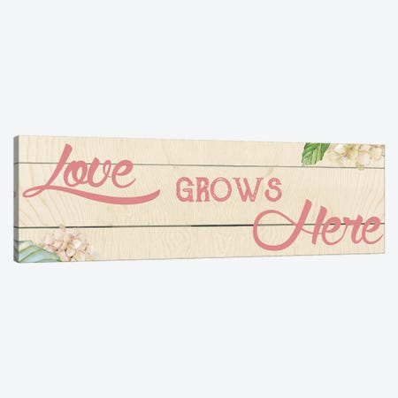 Love Grows Here I Canvas Print #CRO270} by Carol Robinson Canvas Art