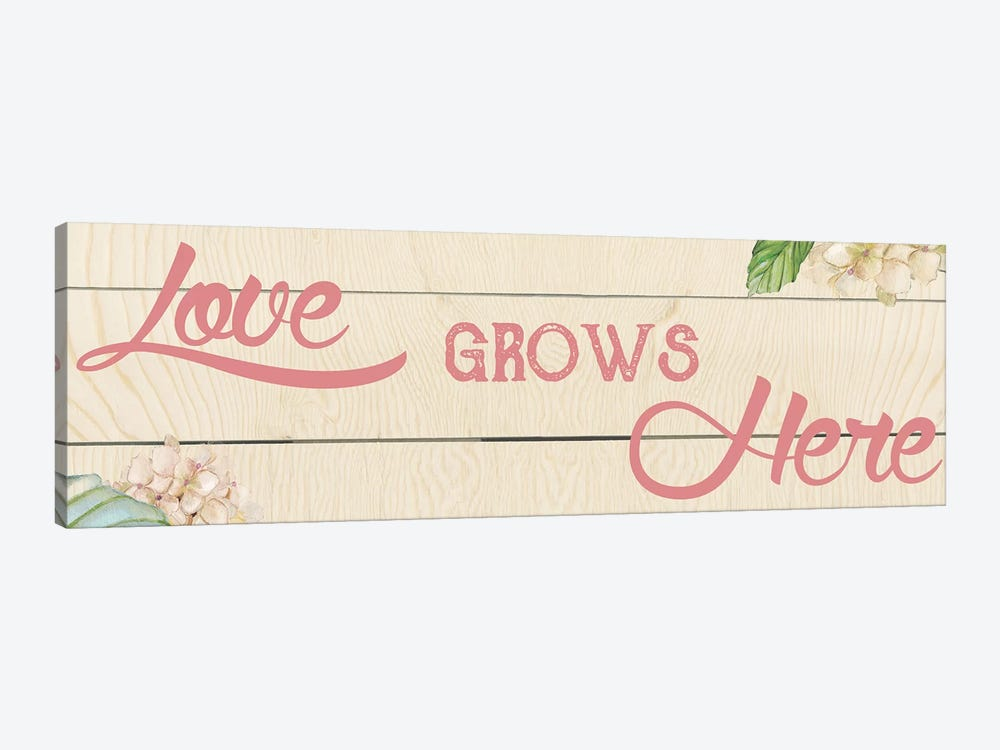 Love Grows Here I by Carol Robinson 1-piece Art Print