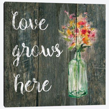Love Grows Here II Canvas Print #CRO271} by Carol Robinson Canvas Art