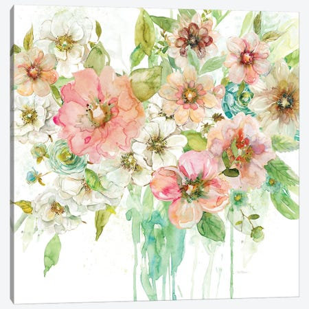 Luscious Bouquet 3-Piece Canvas #CRO274} by Carol Robinson Art Print