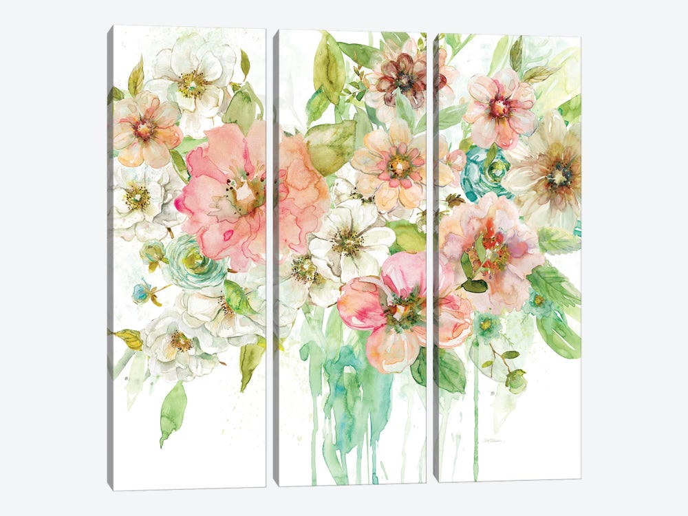 Luscious Bouquet by Carol Robinson 3-piece Canvas Art Print