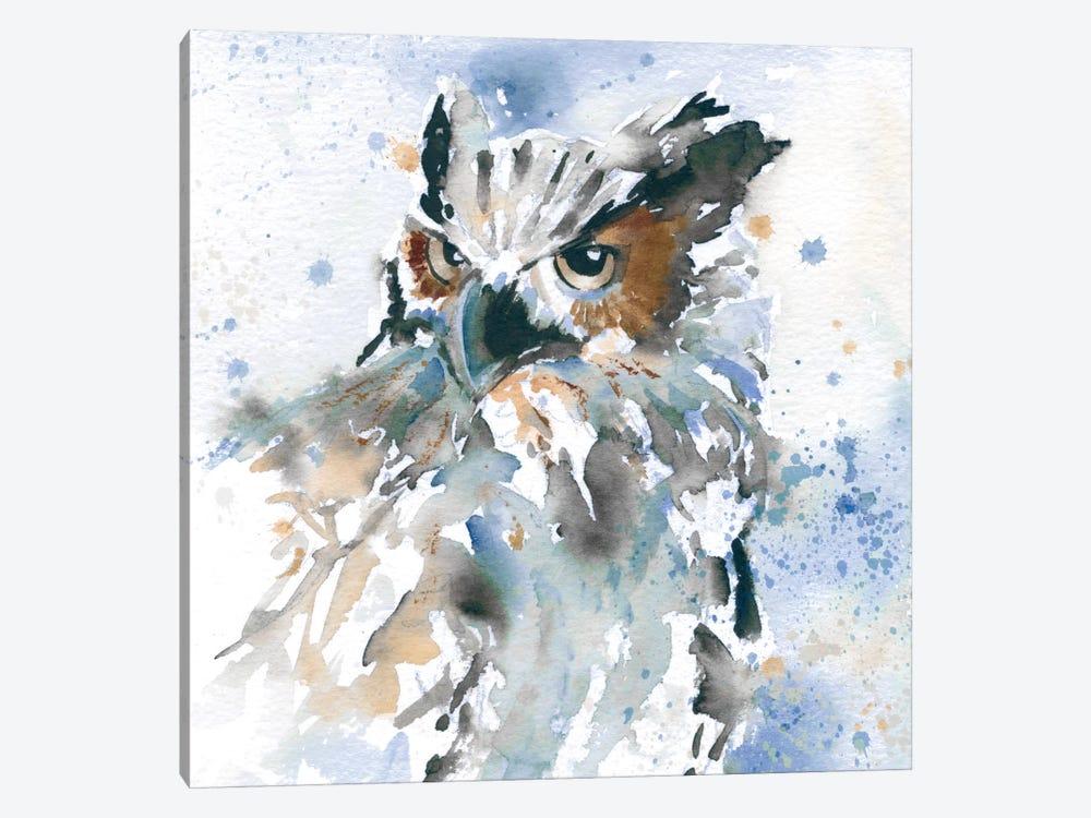 Owl On Blue by Carol Robinson 1-piece Canvas Art Print