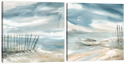 Subtle Mist Diptych Canvas Art Print