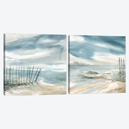 Subtle Mist Diptych Canvas Print Set #CRO2HSET001} by Carol Robinson Canvas Artwork