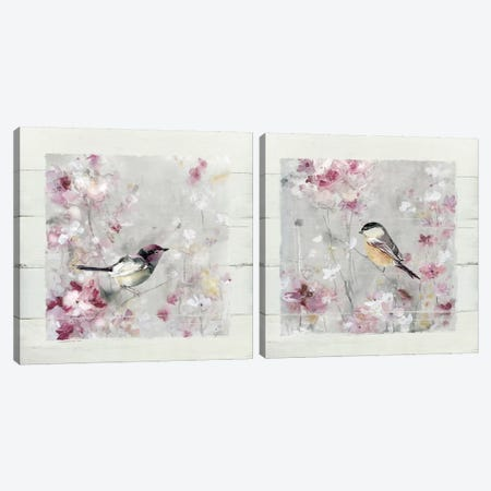 Sitting Pretty Shiplap Diptych Canvas Print Set #CRO2HSET003} by Carol Robinson Canvas Artwork