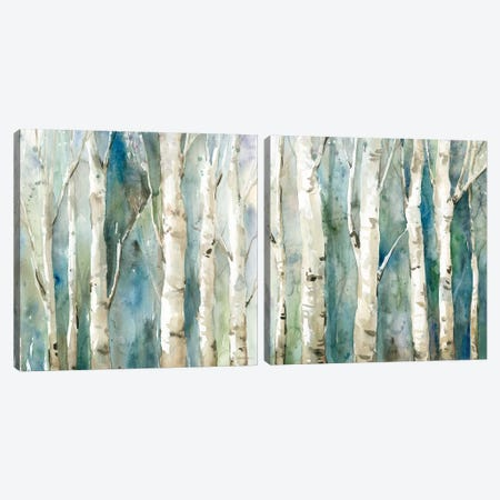 River Birch Diptych Canvas Print Set #CRO2HSET004} by Carol Robinson Canvas Art Print