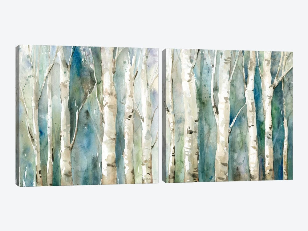 River Birch Diptych by Carol Robinson 2-piece Canvas Wall Art