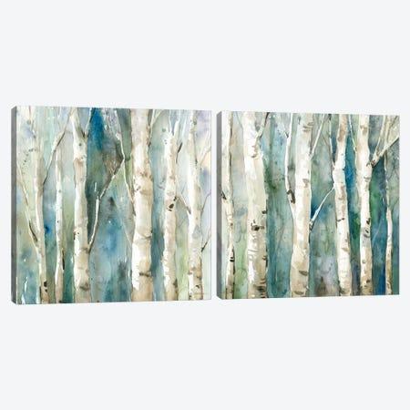 River Birch Diptych Canvas Print Set #CRO2HSET004} by Carol Robinson Canvas Art Print