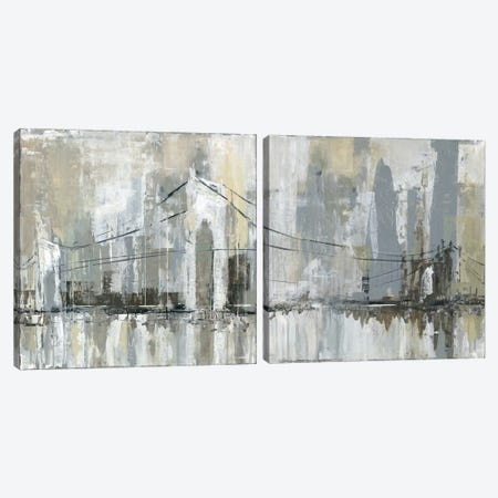 Midtown Bridge Diptych Canvas Print Set #CRO2HSET007} by Carol Robinson Canvas Art Print