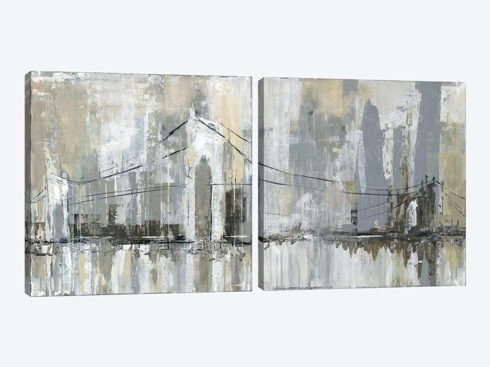 Midtown Bridge Diptych by Carol Robinson 2-piece Canvas Print