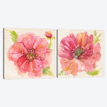 Botanicals Diptych Canvas Print Set #CRO2HSET009} by Carol Robinson Canvas Wall Art